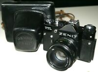 Zenit TTL Russian USSR SLR Film Camera Helios 44M 58mm F2 Lens For M42