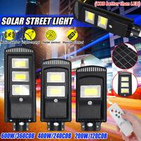 200/400W LAMPIONE STRADALE LED PANNELLO SOLARE TELECOMANDO CREPUSCOLARE