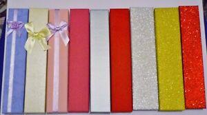 Gift Boxes Jewellery Bracelet Pen various colours