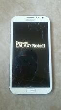 Verizon Samsung Note II 2 i605 White LCD Digitizer ONLY - Cracked, Touch Works