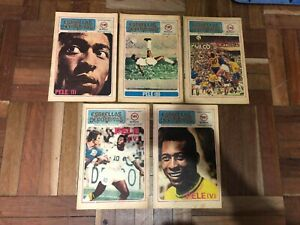 rare SPORTING STARS complete set x 5 magazines SPECIAL EDITION PELE year 1979