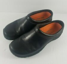 Women's Merrell Encore Nova 2 Black Smooth Gen Leather Slip On Shoes Size 7.5