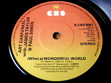 "ART GARFUNKEL with JAMES TAYLOR & PAUL SIMON - (WHAT A) WONDERFUL WORLD 7"" VINYL"