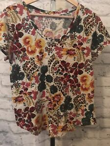 Loft Vintage Soft Size Medium T-Shirt Floral Print