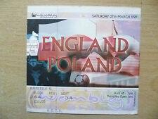 Tickets- England International- ENGLAND v POLAND, 27 March 1999