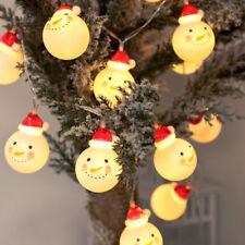 Lovely LED Snowman String Lights Holiday Decors Christmas Decoration Lights