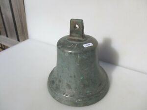 """Large Antique Brass Bell Victorian Vintage J4 Ship? Old 4.2kg 8""""W"""