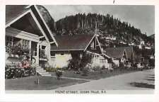 Ocean Falls British Columbia Canada Cottages Real Photo Antique Postcard K18749