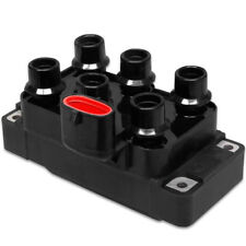 MSD Ignition Coil 5528; Street Fire Black/Red Coil Pack, 6-Tower DIS for Ford V6