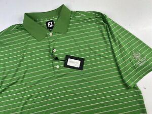 NWT FJ FootJoy Striped Short Sleeve Golf Polo Shirt Men's XXL Trump National