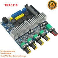DC12-24V 2.1 Audio Digital Amplifier TPA3116 Amplifier Bluetooth4.2 100W+50W+50W