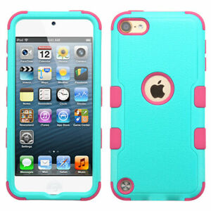 iPod Touch 5th & 6th & 7th Generation - Hard & Soft Silicone Hybrid Case Cover