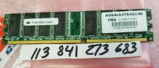 512MB PC RAM DDR1 400  PC3200 DDR 400 184PIN NON-ECC  DUAL  RANK 2RX8 32X8