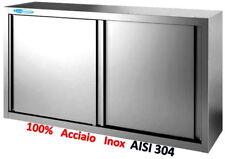 Pensile In Acciaio Inox 100% Aisi 304  cm 160x40x65 Armadiato Professionale