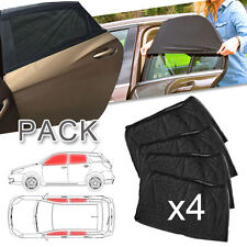 4 Car Side Window Sun Visor Shade Mesh Cover Shield Sunshade UV Protector 2 Pair