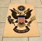 """Vintage Rug tapestry - American Eagle - Biccentennial 36"""" x 27"""" Excellent Cond"""