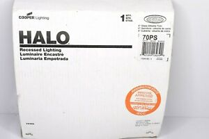 Halo 70PS 6 in. White Recessed Ceiling Light Trim Albalite Glass Lens Wet Rated