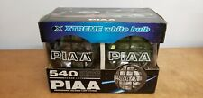 "PIAA 540 Series 5"" Halogen Xtreme White 55W=110W Driving Lamp Kit Vintage Japan"