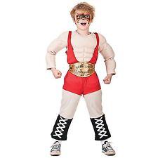 WWE Wrestler Boys Fancy Dress Wrestling Party Childrens WWF Book Week Costume BN