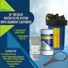 "10"" Big Blue Whole House System with 4.5x10"" Polypropylene Sediment"