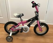 """SPECIALIZED HOTROCK Pink Child's 12"""" Bike With Stabilizers Age 2-4 Years"""
