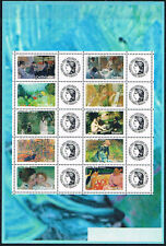 2006 FRANCE N°3866A** FEUILLE PERSONNALISEE Tableaux impressionnistes logo CERES