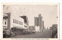 Postcard SC Columbia Main St Looking Toward Capitol Kress Building c.1940 SC1