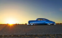 CHEVY CLASSIC HOT ROD NEW A3 CANVAS GICLEE ART PRINT POSTER FRAMED