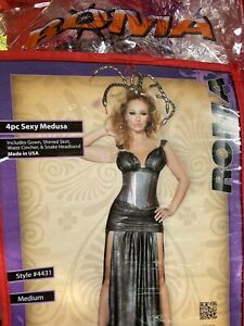Roma Women's Medium HALLOWEEN Costume Sexy Medusa Skirt Waist Cincher Headband