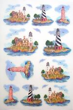 Tatouage Lighthouse Accents  Dry rub Transfer