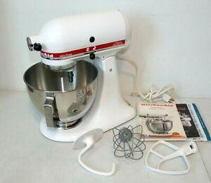 KitchenAid Ultra Power Stand Mixer, 300 Watt, 4-1/2 Qt. White w/Red, Attachments