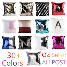 Reversible Colour Changing Sequin Two Toned Cushion Cover Home Decor Pillow Case