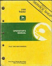 John Deere 2155 Tractor Om-L 57718 Issue B7 Operator's Manual