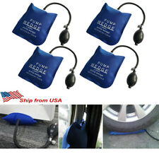 4pcs Air Pump Wedge Bag Car Auto Door Lock Open Repair Hand Tools Shim Clamp