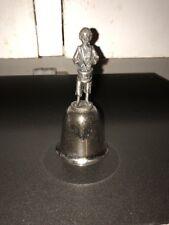 "Vintage 1982 Danbury Mint ""Little Drummer Boy"" Pewter/Silverplate Bell"