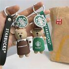 Starbucks Cute Bear Staff Couples Keychain Handbag Bag Pendant Bracelet Toy Gift