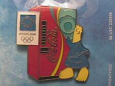 ATHENS 2004 OLYMPIC LAPEL PIN COLLECTIONS: US COCA-COLA COKE VENDING MACHINE