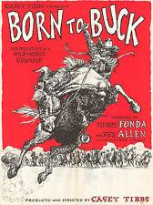 BORN TO BUCK original RODEO 1968 movie poster CASEY TIBBS/WILD HORSE ROUNDUP