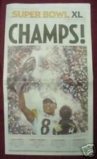 Pittsburgh Steelers Super Bowl XL Champs Tribune Review Newspaper - 25ct Lot