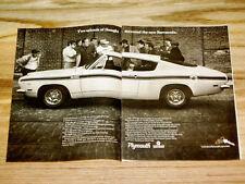 1968-1969 Plymouth Barracuda Original Ads * Lot Of 5 * Formula S/wheel/door/hood