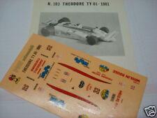 """THEODORE F1 TY01 TAMBAY """"ROMBO"""" DECAL 1/43 VERY RARE"""