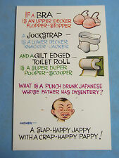 A Bamforth Comic Postcard 1970s BRA JOCKSTRAP TOILET ROLL Theme No 156
