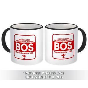 Gift Mug : USA Boston Logan Airport Massachusetts BOS Travel Airline AIRPORT