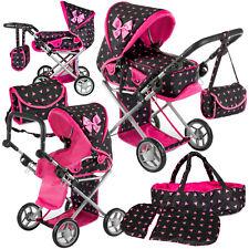 KINDERPLAY Doll Pram Girls Toy Baby Pushchair Doll Folding Buggy Dolly Kids