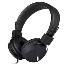 RockPapa Foldable Headsets Headphones fr iPhone Samsung LG Nokia iPod iPad Black