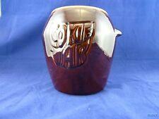 VINTAGE McCOY BROWN DRIP GLAZED COOKIE JAR #7024 MARKED Nice