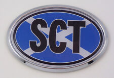 Scotland SCT Scottish Flag Car Chrome Emblem Bumper Sticker flag decal oval