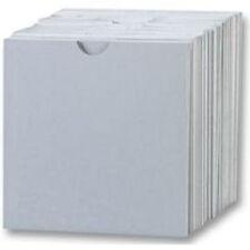100 cd carton manches/portefeuille blanc avec thumbcut