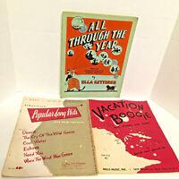 David Carr Glover Boogie Chas Hansen Popular Song His Lot of 3 Sheet Music 1950