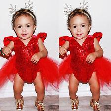 Infant Kids Newborn Baby Girls Romper Bodysuit Jumpsuit Outfits Party Tutu Dress
